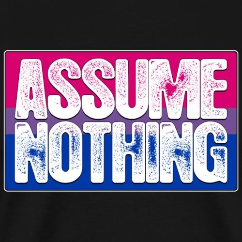 Assume Nothing Bisexual Pride Flag - Men's Premium T-Shirt
