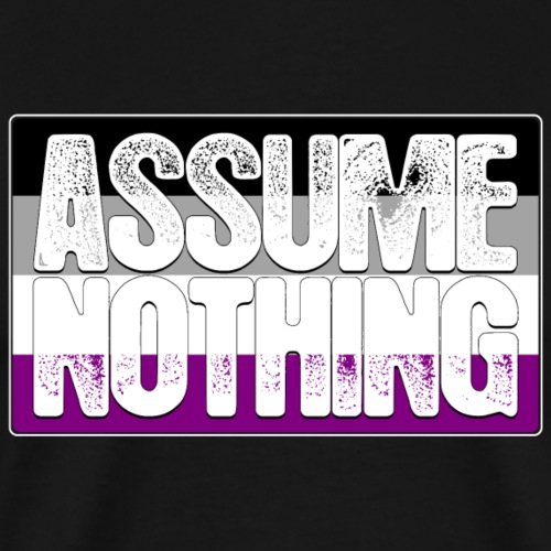 Assume Nothing Asexual Pride Flag - Men's Premium T-Shirt