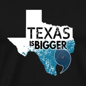 Texas Is Bigger Than Harvey. Texas Hurricane White - Men's Premium T-Shirt