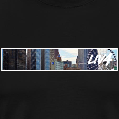 CITY: Chicago (Ferris Wheel) - Men's Premium T-Shirt