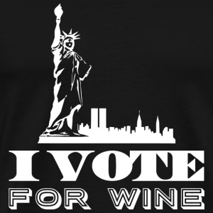 Wine - I vote for wine - Men's Premium T-Shirt