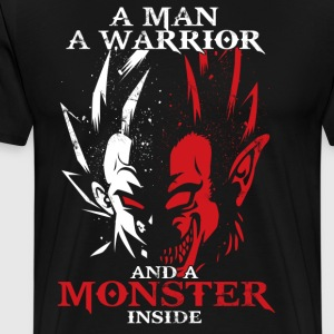 dragon ball majin vegeta monster in side - Men's Premium T-Shirt