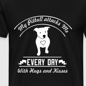 Pitbull attacks me - Men's Premium T-Shirt