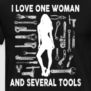 Mechanic I love one woman and several tools - Men's Premium T-Shirt