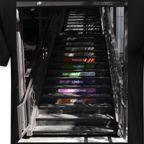 Subway stairs - Men's Premium T-Shirt