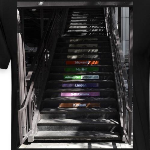 Subway stairs - Men's Premium T-Shirt