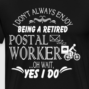 Retired Postal Worker T Shirt - Men's Premium T-Shirt