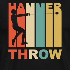 Vintage Hammer Throw Graphic - Men's Premium T-Shirt