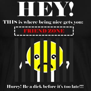 Friend Zone (White) - Men's Premium T-Shirt