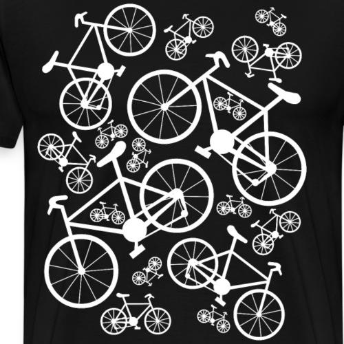 White Bicycles Big and Small - Men's Premium T-Shirt