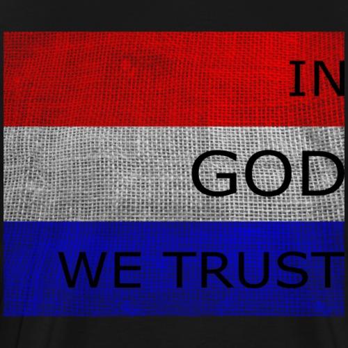 In God We Trust Horizontal Bars - Men's Premium T-Shirt