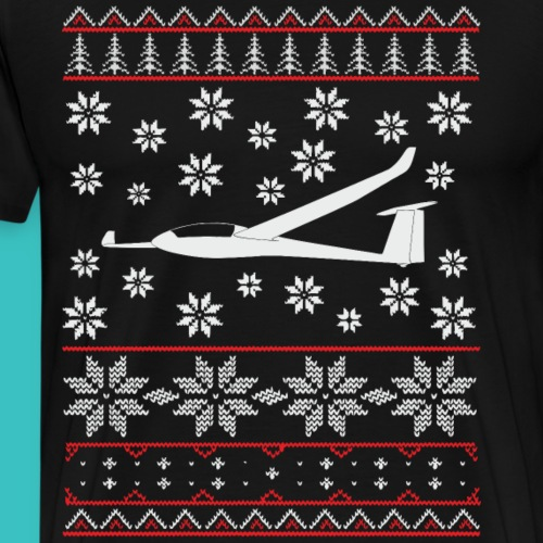 ugly christmas soaring glider pilot gift present - Men's Premium T-Shirt