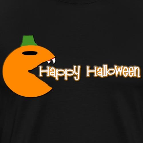 Scary Pumpkin Pac man - Men's Premium T-Shirt