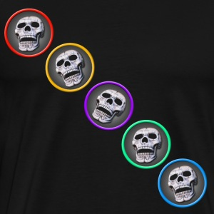 five skulls diagonal - Men's Premium T-Shirt