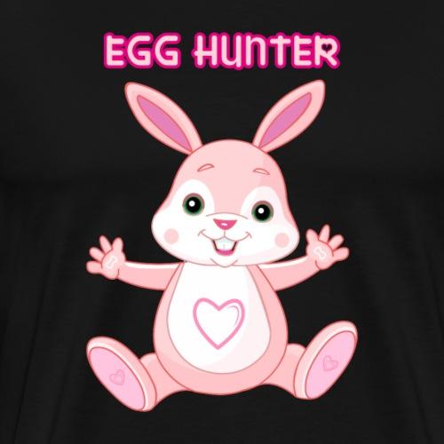 EGG HUNTER bunny eastern heart cute t-shirt hoodie - Men's Premium T-Shirt
