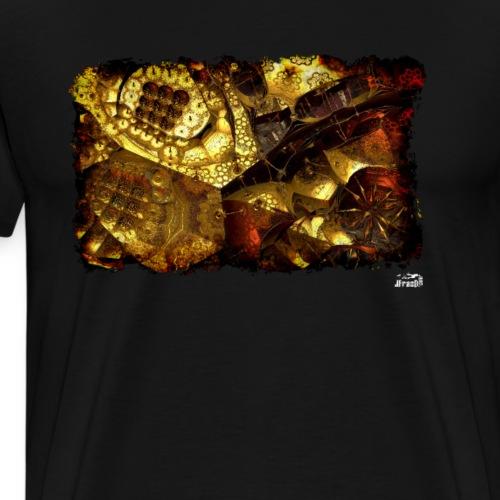 Muta v2, Fractal Gold - Men's Premium T-Shirt