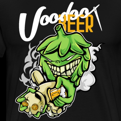 Hops Voodoo Priest with Beer - Men's Premium T-Shirt