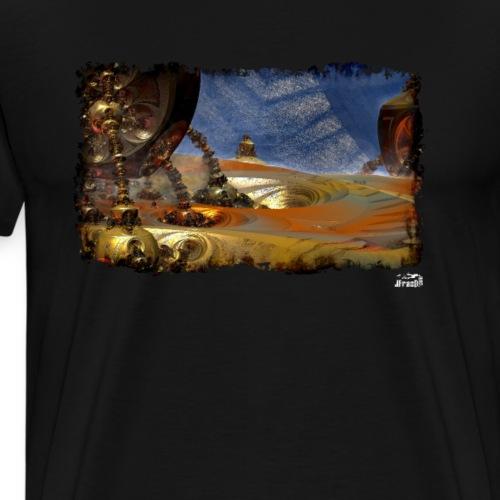 Muta v7, Fractal Landscape - Men's Premium T-Shirt