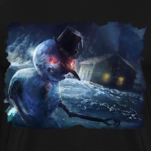 Creepy Snowman - Men's Premium T-Shirt