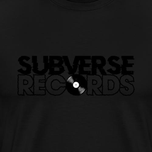SUBVERSE RECORDS LOGO - Men's Premium T-Shirt
