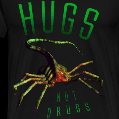 Hugs Not Drugs Facehugger - Men's Premium T-Shirt