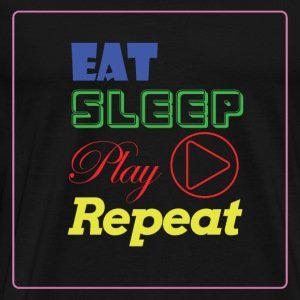 EAT, SLEEP, Play, Repeat - Men's Premium T-Shirt