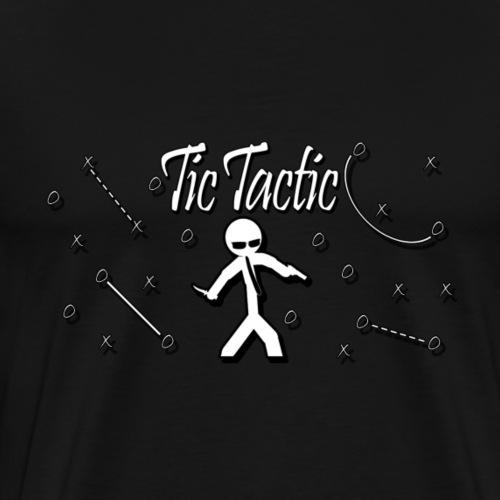 Tic Tactic White Logo - Men's Premium T-Shirt