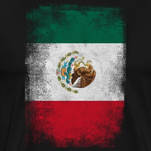 Mexico Flag Proud Mexican Vintage Distressed - Men's Premium T-Shirt