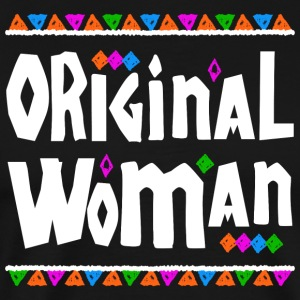 Original Woman - Tribal Design (White Letters) - Men's Premium T-Shirt