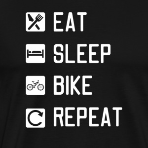 EAT SLEEP BIKE REPEAT - Men's Premium T-Shirt