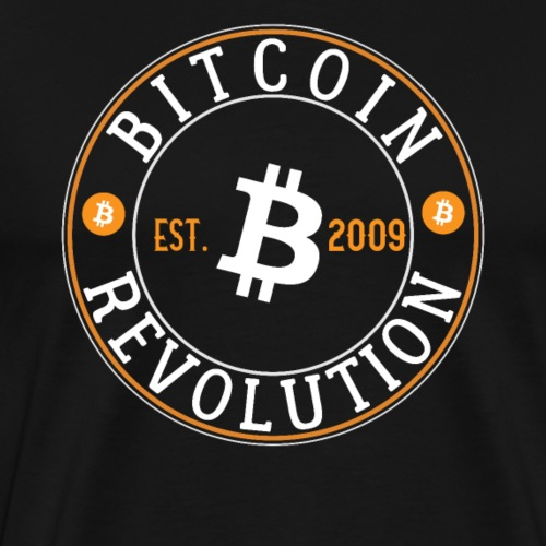 Bitcoin Revolution Est. 2009 - Men's Premium T-Shirt
