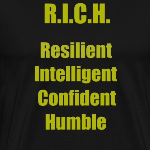 R.I.C.H. (Gold) - Men's Premium T-Shirt