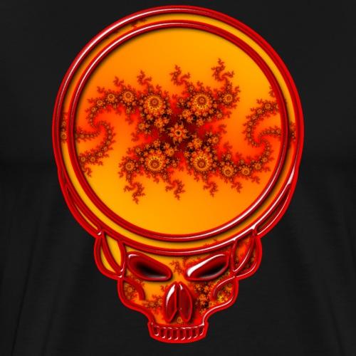 Fire Fractal Dead Style Skull - Men's Premium T-Shirt