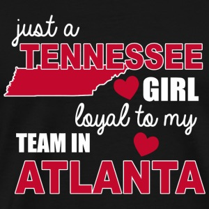 Tennis - just a tenessee girl loyal to my team i - Men's Premium T-Shirt