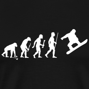 Snowboarding - Evolution of Man and Snowboarding - Men's Premium T-Shirt
