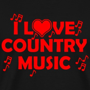 Country music - i love country music - Men's Premium T-Shirt