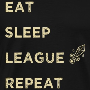 Gamer - EAT SLEEP LEAGUE, Legends Gaming - Men's Premium T-Shirt