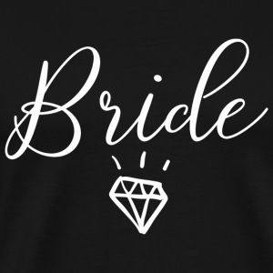 Relationship - Bride Wedding Marriage Diamond Cu - Men's Premium T-Shirt