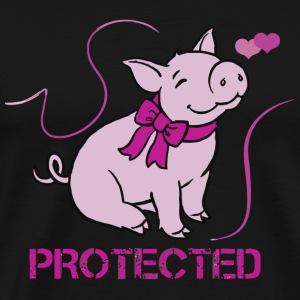 Pig - Protected - Men's Premium T-Shirt