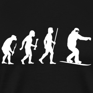 Snowboarding - Snowboarding Evolution of Man - Men's Premium T-Shirt