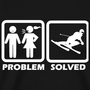 Skiing - Skiing Solved My Problem - Men's Premium T-Shirt