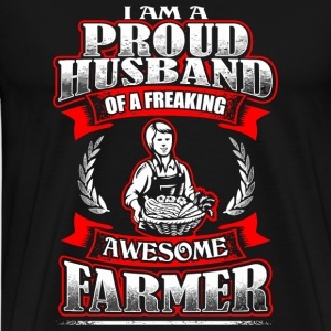 Farmer - Proud Husband - Farmer - Men's Premium T-Shirt