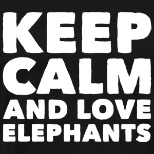 Elephant - Keep Calm and Love Elephants - Men's Premium T-Shirt