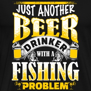 Beer Just another beer drinker with a fishing - Men's Premium T-Shirt