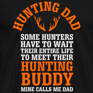 - Hunting Dad Shirt for Fathers Day - Men's Premium T-Shirt