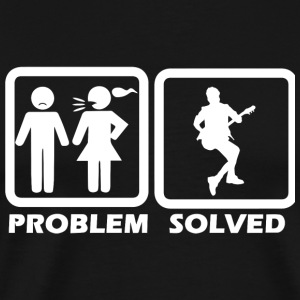 Guitar - Guitar Solved My Problem - Men's Premium T-Shirt