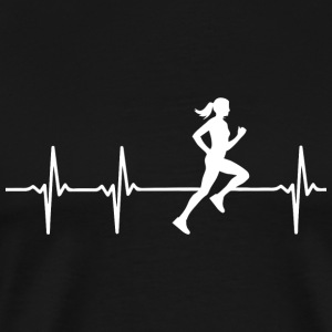 Runner - Female Runner In A Heart Beat - Men's Premium T-Shirt