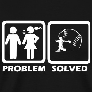 Baseball - Baseball Solved My Problem - Men's Premium T-Shirt