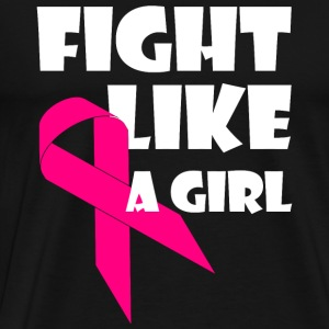 Breast Cancer - Fight Like A Girl Breast Cancer - Men's Premium T-Shirt
