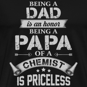 Papa - Being A Dad Is Honor T Shirt - Men's Premium T-Shirt